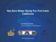 Net Zero Water Study For Fort Irwin California - Damilola Eyelade