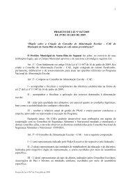 "PROJETO DE LEI Nº 047/2009 DE 29 DE JULHO DE 2009 ""Dispõe ..."