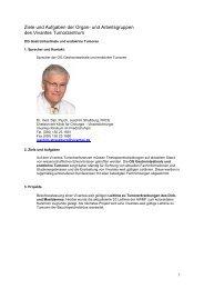 Ziele und Aufgaben der Organ- und Arbeitsgruppen des Vivantes ...