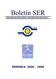 MEMORIA 2008 – 2009 - Sociedad Española de Reumatología