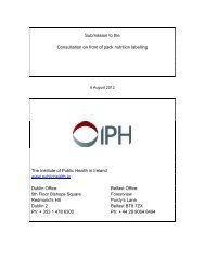Access the full IPH response to this consultation here - Institute of ...