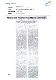 Kliping Berita PNPM Mandiri Periode Mai 2010 - psflibrary.org