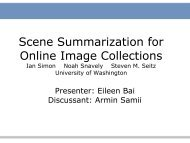 Scene Summarization for Online Image Collections - Visualization