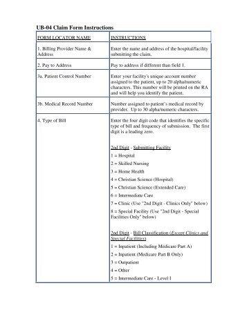 04 Claim Form Instructions