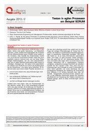Testen in agilen Prozessen am Beispiel SCRUM - Software Quality ...