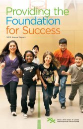 2010 Annual report - Boys and Girls Clubs of Canada