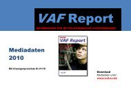 Mediadaten 2010 - VAF - Bundesverband Telekommunikation eV