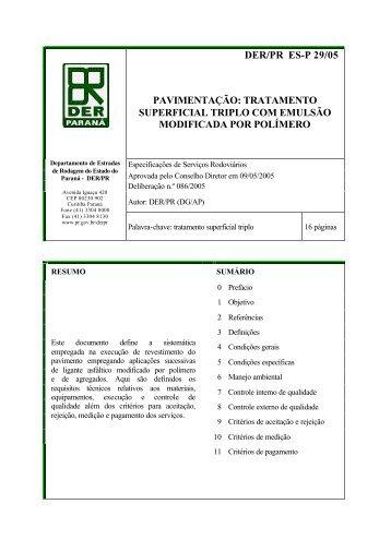 tratamento superficial triplo com emulsão modificada por polímero