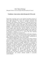 Tradizione e innovazione nella chirurgia del XXI secolo - Istituto ...