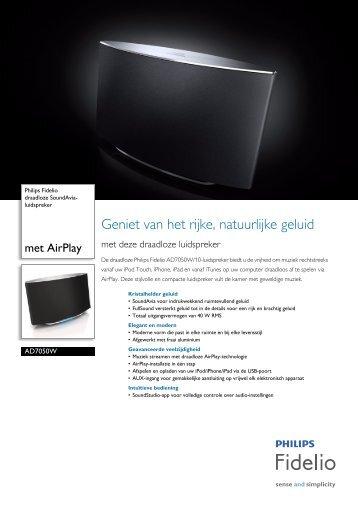 AD7050W/10 Philips draadloze SoundAvia-luidspreker