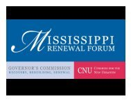 Regional Strategies - Mississippi Renewal