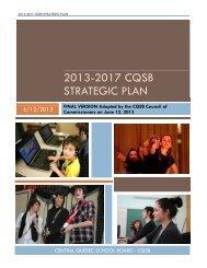 2013-2017 CQSB STRATEGIC PLAN