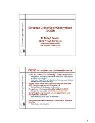 EGSO - Solar Data Analysis Center - NASA