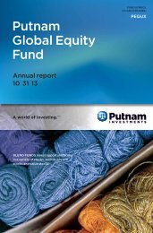 Global Equity Fund Annual Report - Putnam Investments