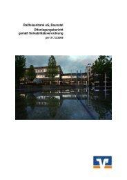 Offenlegungsbericht der RBB 2008 - Raiffeisenbank eG Baunatal