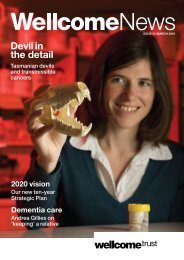 Download issue 62 - Wellcome Trust