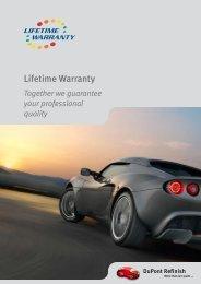 Lifetime Warranty - DuPont Refinish