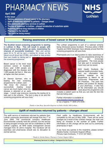 Pharmacy News - Community Pharmacy