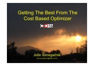Getting The Best From The Cost Based Optimizer - HrOUG