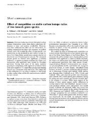 Effect of competition on stable carbon isotope ratios of two tussock ...