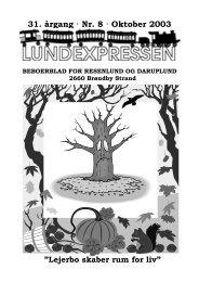 31. årgang · Nr. 8 · Oktober 2003 - lundens.net