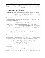 Numerical Methods for Two–Point Boundary Value Problems 1 ...