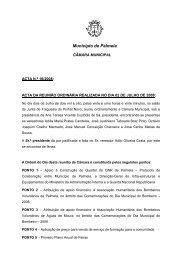 Ata 16/2008 Reunião Ordinária, de 2 de Julho - Câmara Municipal ...