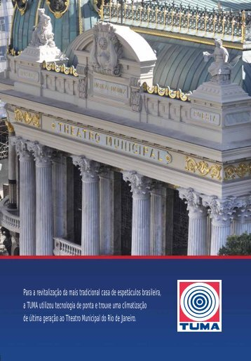 Folder Theatro Municipal do Rio de Janeiro - Tuma