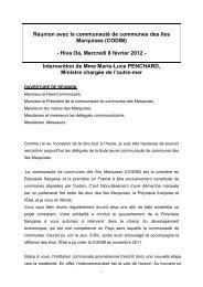 Discours REUNION CODIM - Haut-Commissariat de la république ...