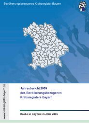 Ausgabe 2009 - Bevölkerungsbezogenes Krebsregister Bayern