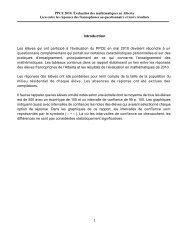 Introduction Les élèves qui ont participé à l'évaluation du PPCE en ...