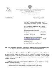 Calendario Convocazioni ruolo GAE - MIUR – USR Veneto