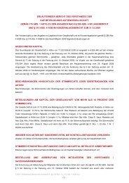 Erläuternder Bericht des Vorstandes zu den Angaben nach § 289 Abs