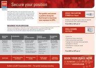 Book your plaCE now - CeBIT Australia