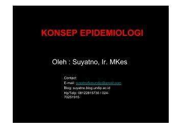 ikm2-epidemiologi - Suyatno, Ir., MKes - Undip