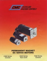 PERMANENT MAGNET DO SERVO MOTORS
