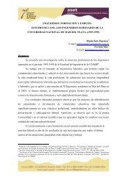 ingenieros, formación y empleo. estudio de caso: los ... - ASET