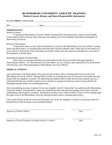 Medical Consent Form. Medical Parental Consent Form Sample Medical