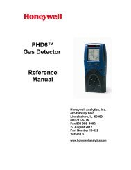 PhD6 Multi-Gas Detector Reference Manual - Honeywell Analytics