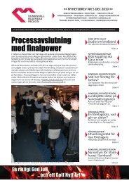 Processavslutning med finalpower - Sundsvall