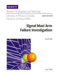 Signal Mast Arm Failure Investigation