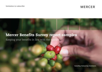 Mercer Benefits Survey report samples - iMercer.com