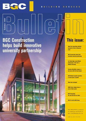 BGC Construction helps build innovative university partnership