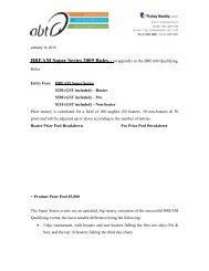 BREAM Super Series 2009 Rules - an appendix to the BREAM ...