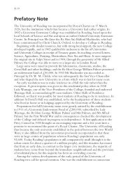 Prefatory Note (PDF - 40 KB) - University of Reading