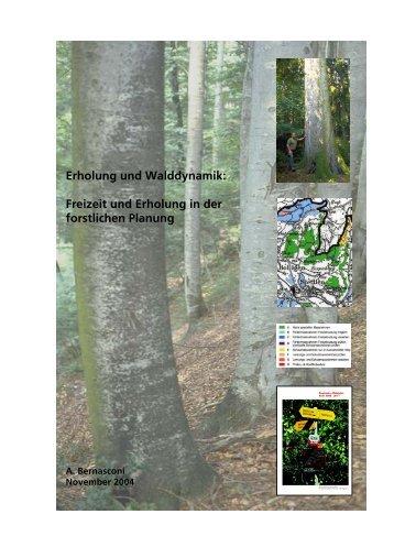Freizeit und Erholung in der forstlichen Planung - Pan Bern