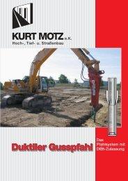 Duktile Pfähle - Kurt Motz