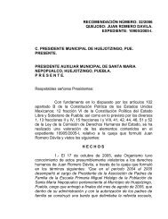 recomendación número: 32/2006 quejoso: juan romero davila ...