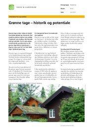 Grønne tage – historik og potentiale - Klimatilpasning