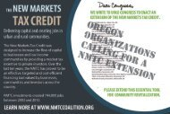 New Markets Tax Credit in Oregon - New Markets Tax Credit Coalition